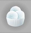 milk frozen yogurt or soft three white balls ice vector image vector image