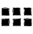 modern black square stain frames collection vector image vector image