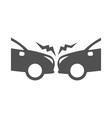 monochrome simple road accident icon flat vector image vector image
