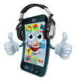 music headphones phone vector image