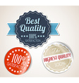 Old round retro vintage grunge stickers vector image