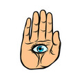 palm with eye observation and spiritualism vector image