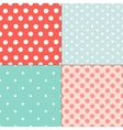 Polka dot colorful painted seamless patterns set vector image vector image