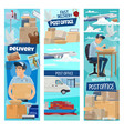 post mail delivery working postman vector image vector image