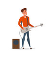 professional guitar player flat vector image