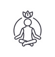 relaxation meditationmindfulnessconcentration vector image vector image