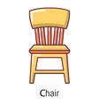 retro chair icon cartoon style vector image vector image