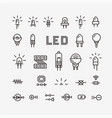set electronic components related vector image