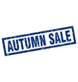 square grunge blue autumn sale stamp vector image vector image