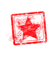 star red grunge rubber stamp vector image vector image