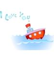 Steamship in love vector image vector image
