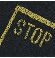stop sign on road vector image vector image