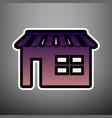store sign violet gradient vector image