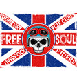 tee skull motorcycle graphic design vector image vector image
