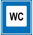 Toilet road sign on white background vector image
