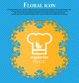 Vegan food graphic design icon Floral flat design vector image