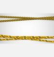 warning yellow ribbons dangerous stripes banner vector image vector image