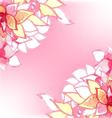 Watercolor floral card vector image vector image