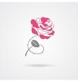 Rose symbol isolated on white background vector image