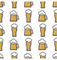 beer glass seamless pattern celebration vector image