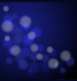abstract blue light bokeh background vector image vector image