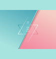 abstract diagonal paper cut style blue and pink vector image