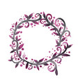 abstract mythic ivy wreath watercolor vector image vector image