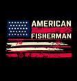 american fisherman american flag with fishing vector image