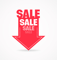 Arrow sale vector image vector image