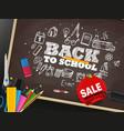 back to school season sale concept vector image