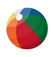 beach ball in different colors vector image vector image