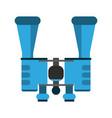 binoculars spy device symbol vector image vector image