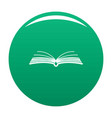 book literature icon green vector image vector image