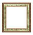 Brown frame with holly isolated on white vector image vector image