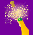 bubbly new year vector image vector image