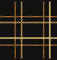 chains and belts seamless pattern fashion vector image vector image