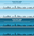 chicago skyline event banner vector image vector image