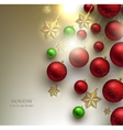 Christmas background with balls Red and Golden vector image vector image