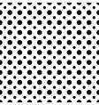Circle black seamless pattern vector image