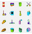 Cleaning set icons vector image vector image