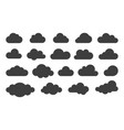 clouds web icons silhouette vector image