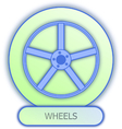 Commercial icons and symbols of car parts - Wheels vector image vector image