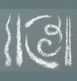 condensation trail realistic set vector image vector image