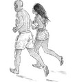 couple jogging vector image vector image