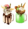 Crazy Cocktail Dessert Set vector image