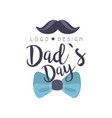 dads day logo design happy fathers day creative vector image