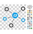 dash network structure icon with bonus vector image vector image