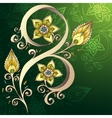Decorative floral background with flowers vector image vector image