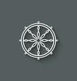 dharma wheel design element vector image vector image