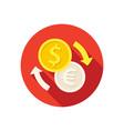 dollar to euro exchange vector image